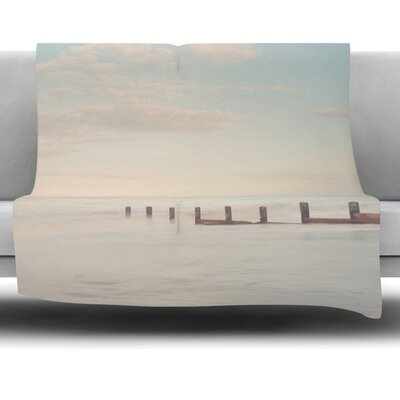 The Rising Tide by Laura Evans Fleece Blanket Size: 80 L x 60 W