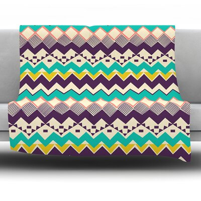 Ethnic Color by Louise Machado Fleece Blanket Size: 40 L x 30 W