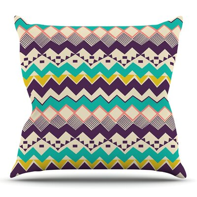Ethnic Color by Louise Machado Throw Pillow Size: 18 H x 18 W