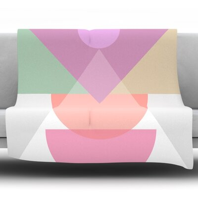 Pastel Play 3X by Mareike Boehmer Fleece Blanket Size: 60 L x 50 W