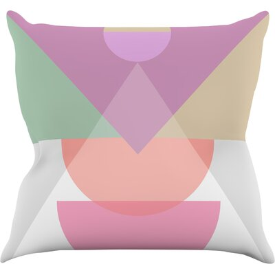 Pastel Play 3X by Mareike Boehmer Throw Pillow Size: 18 H x 18 W