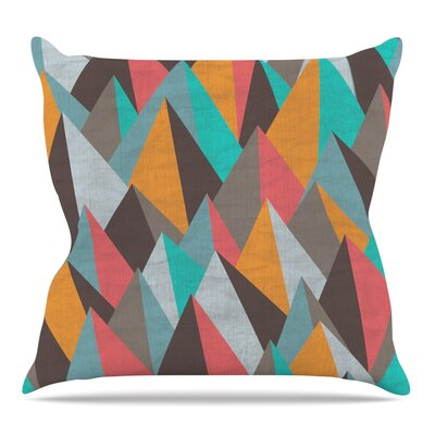 Mountain Peaks I by Michelle Drew Throw Pillow Size: 16 H x 16 W