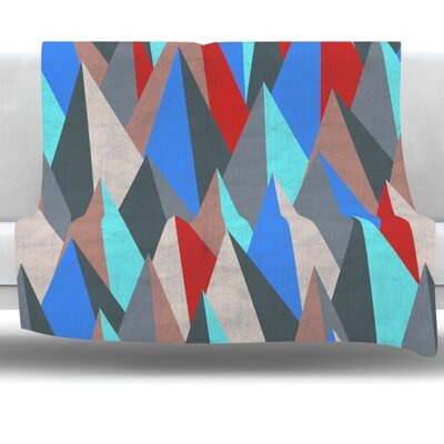 Mountain Peaks II by Michelle Drew Fleece Blanket Size: 80 L x 60 W