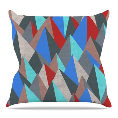 Mountain Peaks II by Michelle Drew Throw Pillow Size: 18 H x 18 W