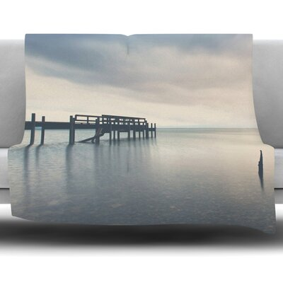 Waiting for the Storm to Pass by Laura Evans Fleece Blanket Size: 80 L x 60 W