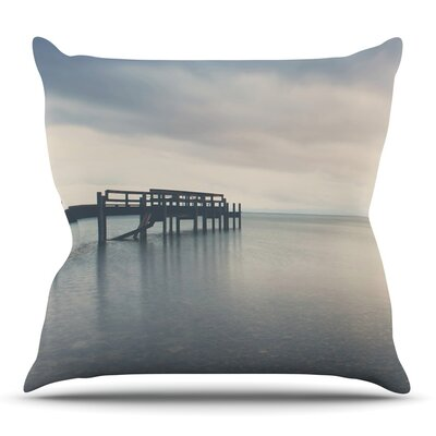 Waiting for the Storm to Pass by Laura Evans Throw Pillow Size: 20 H x 20 W