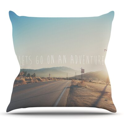 Lets Go On An Adventure by Laura Evans Throw Pillow Size: 18 H x 18 W