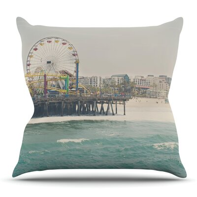 The Pier at Santa Monica by Laura Evans Throw Pillow Size: 18 H x 18 W