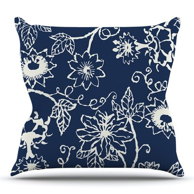 Passion Flower by Laura Nicholson Throw Pillow Size: 16 H x 16 W