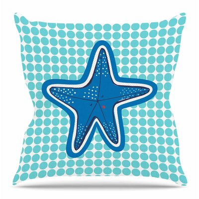 Estrella De Mar by MaJoBV Throw Pillow Size: 20 H x 20 W