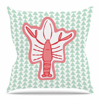 Langosta by MaJoBV Throw Pillow Size: 18 H x 18 W