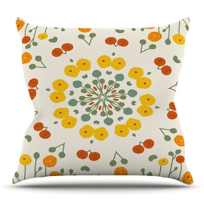 Ranunculas by Laura Nicholson Throw Pillow Size: 18 H x 18 W