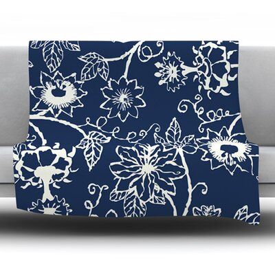 Passion Flower by Laura Nicholson Fleece Blanket Size: 80 L x 60 W