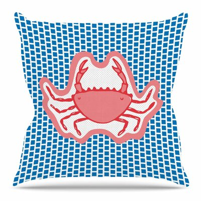 Cangrejo by MaJoBV Throw Pillow Size: 16 H x 16 W