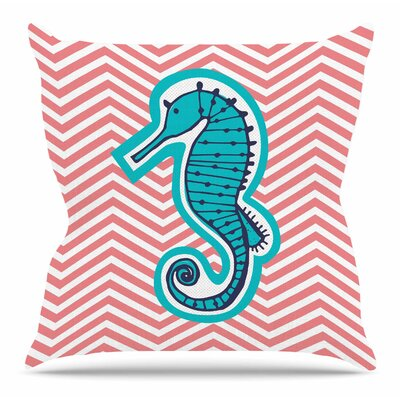 Caballito De Mar by MaJoBV Throw Pillow Size: 18 H x 18 W