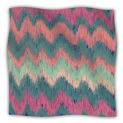 Ikat Chevron by Nika Martinez Fleece Blanket Size: 40 L x 30 W