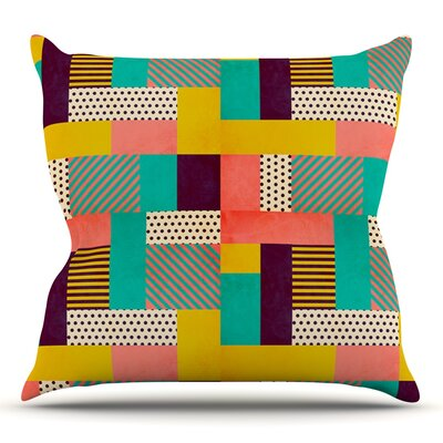 Geometric Love by Louise Machado Throw Pillow Size: 18 H x 18 W