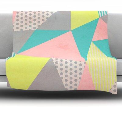 Geometric Pastel by Louise Machado Fleece Blanket Size: 40 L x 30 W