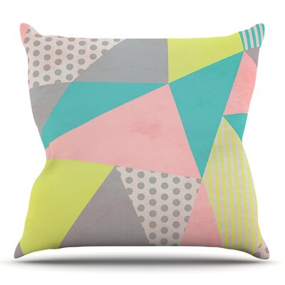 Geometric Pastel by Louise Machado Throw Pillow Size: 16 H x 16 W