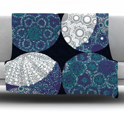 Moons by Laura Nicholson Fleece Blanket Size: 60 L x 50 W