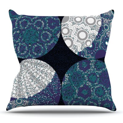 Moons by Laura Nicholson Throw Pillow Size: 18 H x 18 W