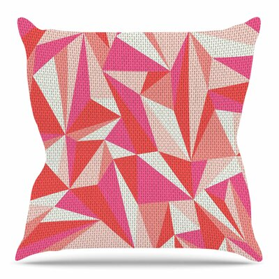 Stitched Pieces by MaJoBV Throw Pillow Size: 18 H x 18 W