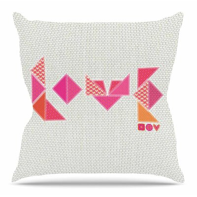 Stitched Love by MaJoBV Throw Pillow Size: 18 H x 18 W