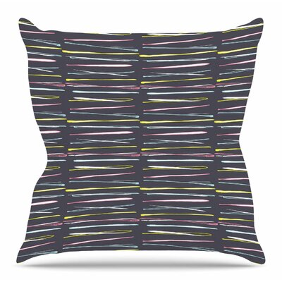 Rosewall Thorns / Gray by MaJoBV Throw Pillow Size: 16 H x 16 W