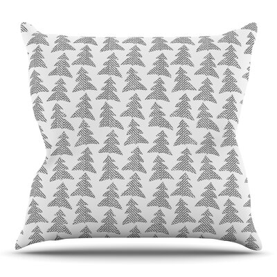 Herringbone Forest by Michelle Drew Throw Pillow Size: 18 H x 18 W