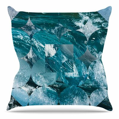 Crashing by Matt Eklund Throw Pillow Size: 18 H x 18 W