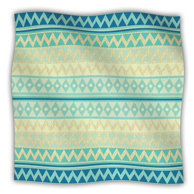 Glitter Chevron Fleece Blanket Size: 60