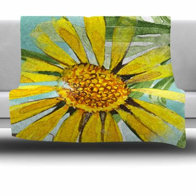 Sunny Day by Liz Perez Fleece Blanket Size: 80 L x 60 W