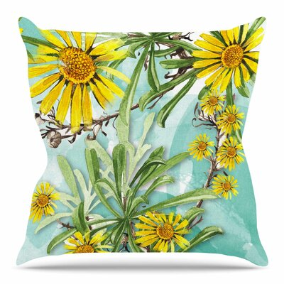 Sunny Day by Liz Perez Throw Pillow Size: 18 H x 18 W