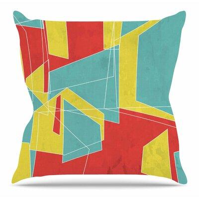Cartagena Walls by MaJoBV Throw Pillow Size: 18 H x 18 W