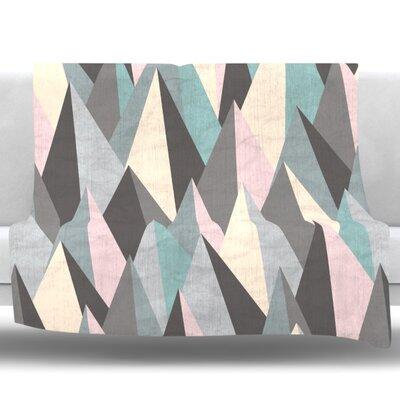 Mountain Peaks III by Michelle Drew Fleece Blanket Size: 80 L x 60 W