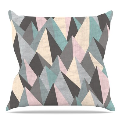 Mountain Peaks III by Michelle Drew Throw Pillow Size: 18 H x 18 W