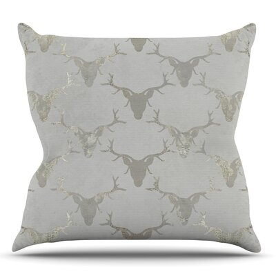 Gilded Stags by Michelle Drew Throw Pillow Size: 26 H x 26 W