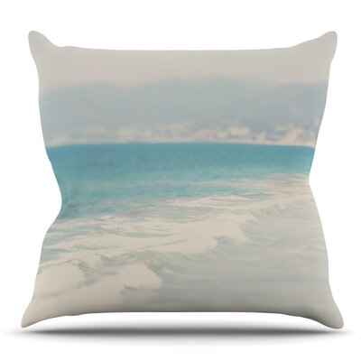 Waves by Laura Evans Throw Pillow Size: 16 H x 16 W