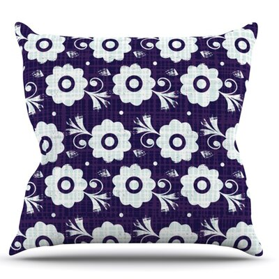 Navy Flower by Louise Machado Throw Pillow Size: 16 H x 16 W