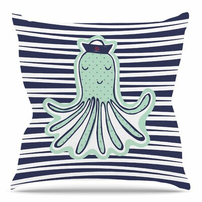 Pulpo by MaJoBV Throw Pillow Size: 16 H x 16 W