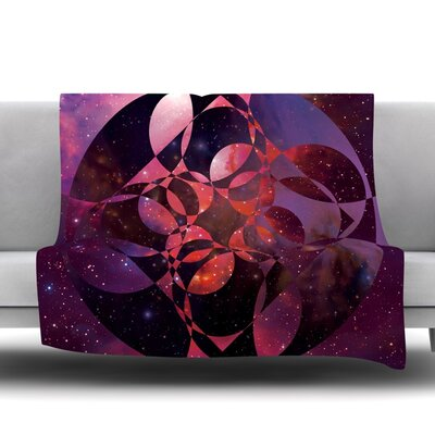 Galactic Brilliance Magenta by Matt Eklund Fleece Blanket Size: 80 L x 60 W