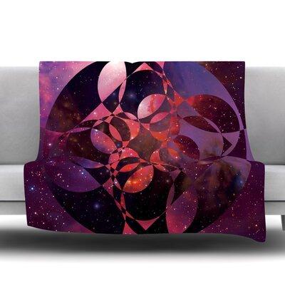 Galactic Brilliance Magenta by Matt Eklund Fleece Blanket Size: 60 L x 50 W