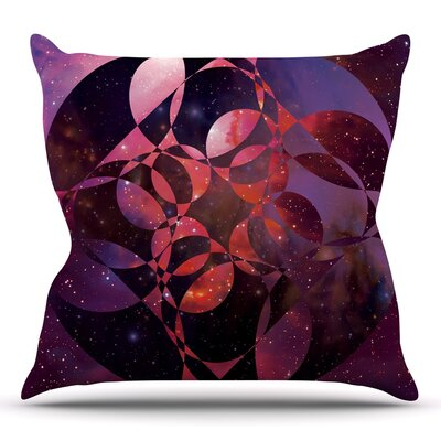 Galactic Brilliance Magenta by Matt Eklund Throw Pillow Size: 18 H x 18 W