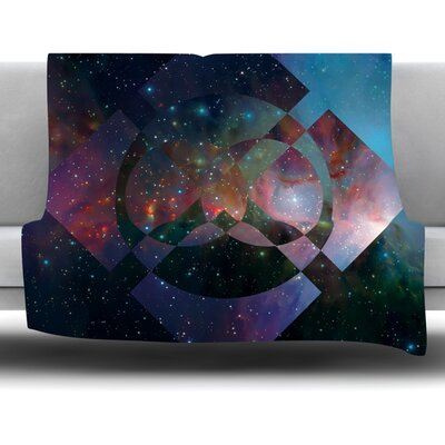 Galactic Radiance by Matt Eklund Fleece Blanket Size: 60 L x 50 W