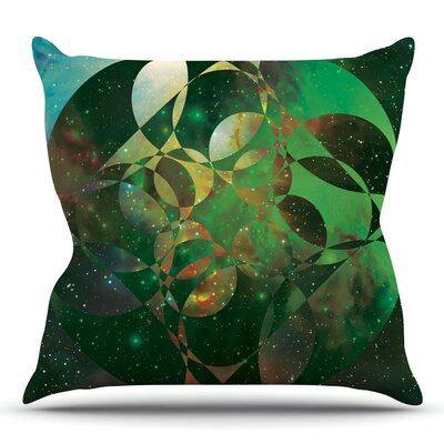 Galactic Brilliance by Matt Eklund Throw Pillow Size: 18 H x 18 W