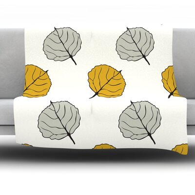 Leaf by Laurie Baars Fleece Blanket Size: 60 L x 50 W