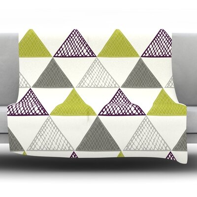 TextuTriangles by Laurie Baars 80 Fleece Blanket