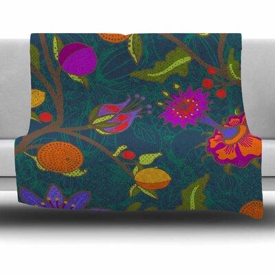 Flora Exotica by Laura Nicholson Fleece Blanket Size: 80 L x 60 W