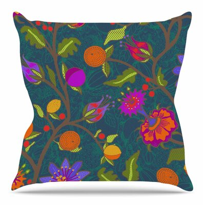 Flora Exotica by Laura Nicholson Throw Pillow Size: 18 H x 18 W