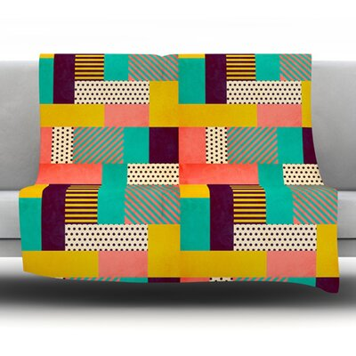 Geometric Love by Louise Machado Fleece Blanket Size: 60 L x 50 W
